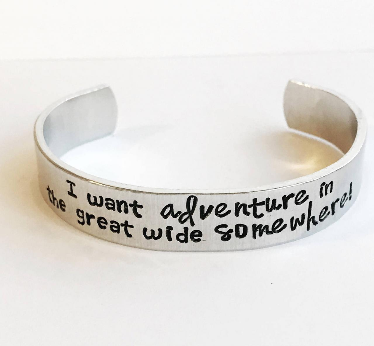 Custom quote multi font 1/2 inch personalized aluminum cuff bracelet
