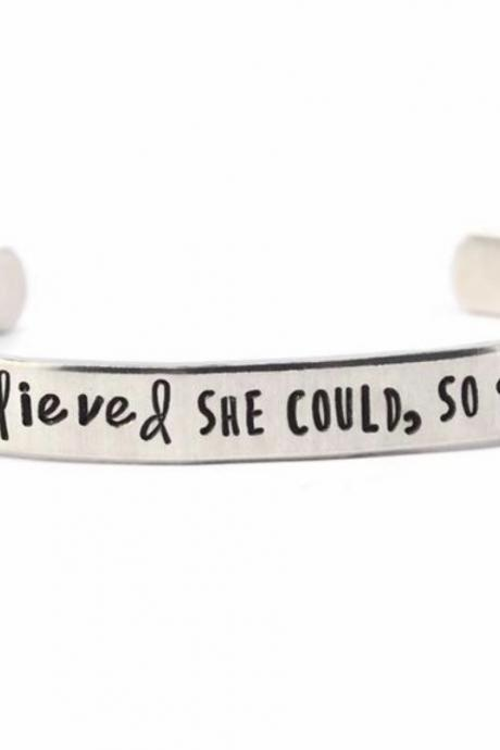 She believed she could 6 inch cuff ready to ship