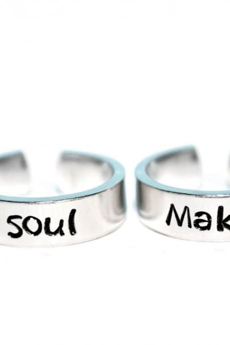 maka and soul soul eater inspired adjustable ring