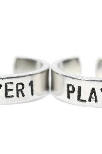 Player 1 and Player 2 adjustable ring PAIR ready to ship